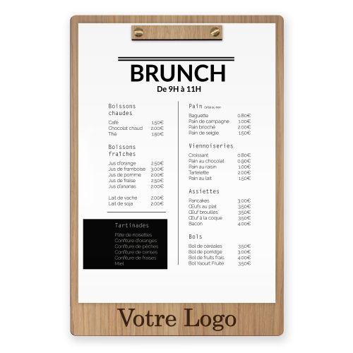 Planche et porte-menu en bois pour les restaurants, hôtels, et cafés